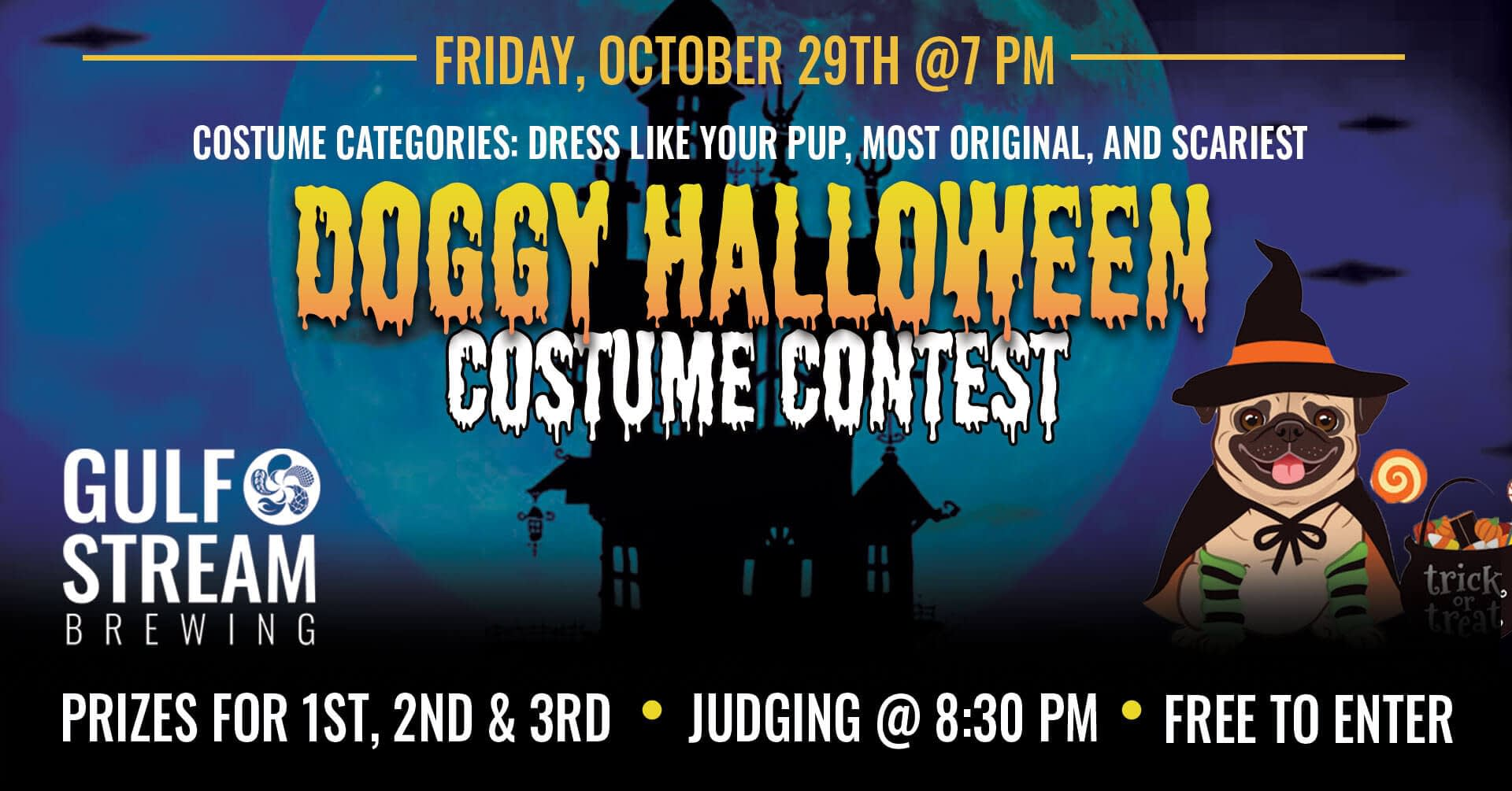 Join us at the brewery for a doggy halloween costume contest.