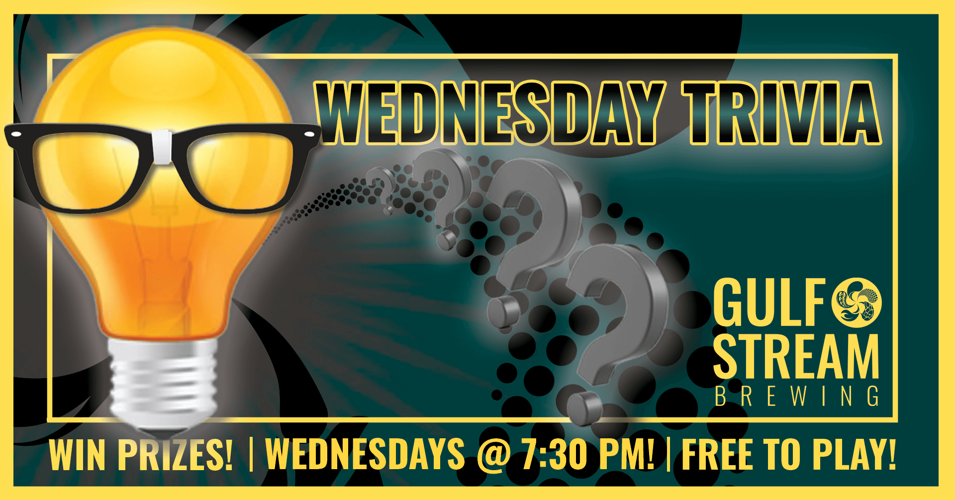 Trivia Night at Gulf Stream Brewing Company, Every Wednesday!